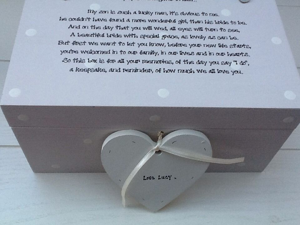 Shabby Personalised Chic Bride Wedding Day Gift From Mother Of Groom